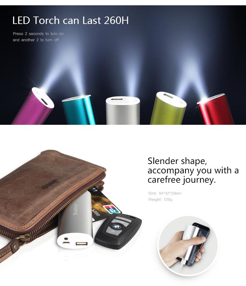 Hệ thống đèn led (pin dự phòng yoobao yb6012)